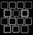 silver square frames vector image vector image
