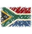 South African grunge flag vector image vector image
