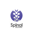 spine pain medical logo vector image vector image