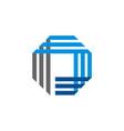 square line construction technology logo vector image
