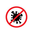 stop coronavirus sign vector image