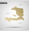 stylized haiti map vector image