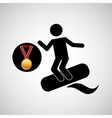 surfing medal sport extreme graphic vector image vector image