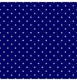 Tile pattern white polka dots navy blue background vector image vector image