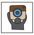 unusual look web icon of modern lineart camera vector image vector image