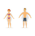 weight loss - modern cartoon people characters vector image vector image