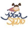 yoga studio lettering vector image