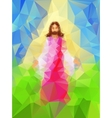 Light from Jesus as he walks in triangle style vector image
