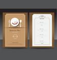 Restaurant or cafe menu design template vin vector image