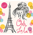 Artistic paris eiffel tower design vector image vector image
