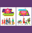 big sale only this weekend set vector image vector image