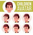 boy avatar set kid high school face vector image vector image