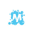 bubble with initial letter m graphic design vector image vector image
