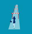 businesswoman hurdler concept business success vector image