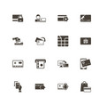 cards - flat icons vector image vector image