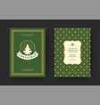christmas greeting card vintage typographic quote vector image vector image