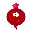 cute cartoon beetroot character vector image vector image
