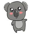 cute little koala on white background vector image vector image