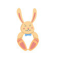 cute rabbit easter cartoon bunny white background vector image vector image