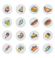 dessert icons vector image vector image