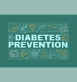 diabetes preventions word concepts banner vector image vector image