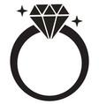 diamond ring set vector image vector image