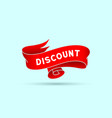 discount red vintage ribbon vector image vector image