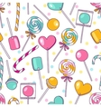 doodle lollipops pattern Bright sweet food vector image