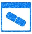 Drugs Capsule Calendar Page Grainy Texture Icon