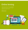 E-learning and online education vector image