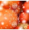 Enjoy the Fall Season - typographic element vector image