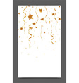 Falling gold ribbon and confetti vector image vector image