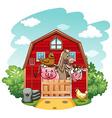 Farmhouse vector image