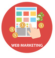 Flat design modern concept of web marketing vector image vector image