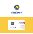 flat eye ball logo and visiting card template vector image vector image