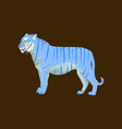 flat shading style icon tiger vector image vector image