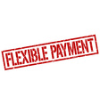flexible payment stamp vector image vector image