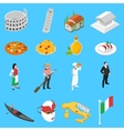 German Culture Traditions Isometric Icons vector image