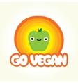Go vegan apple vector image vector image