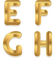 Golden alphabet Set of metallic 3d letters