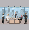 group arab businessmen or office workers vector image vector image