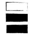 Grunge black frame background set vector image vector image