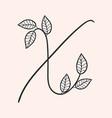 handwritten letter x monogram or logo brand vector image vector image