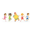 happy children - cartoon people characters vector image