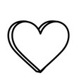 heart love romantic icon on white background thick vector image vector image