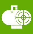 industrial fan heater icon green vector image vector image
