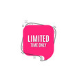 limited time symbol special offer sign vector image vector image