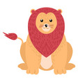 lion isolated on white background vector image