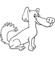 little shaggy dog cartoon for coloring book vector image vector image