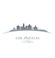 Los Angeles California city skyline silhouette